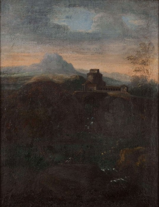 Landscape with a Waterfall. Unknown painters