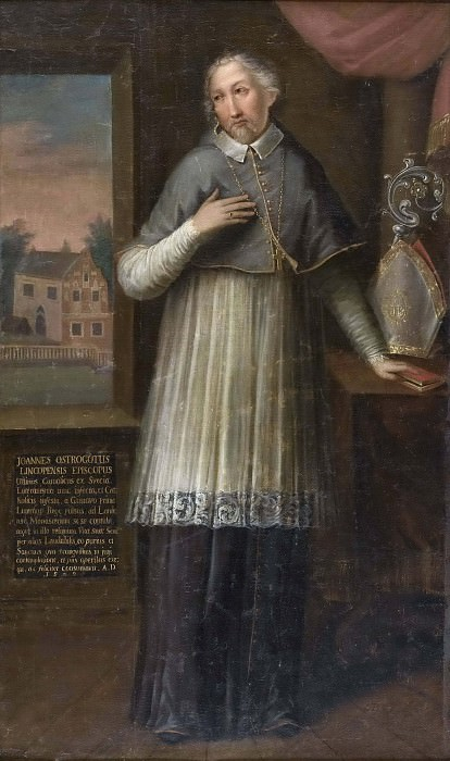 Unknown prelate from the 17th century, called Bishop Hans Brask. Unknown painters