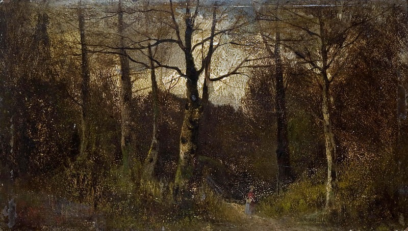 Path through a Wood. Unknown painters (British School)
