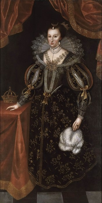 Maria Eleonora (1599-1655), Queen of Sweden. Unknown painters