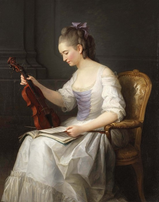Portait of a violinist. Anne Vallayer-Coster