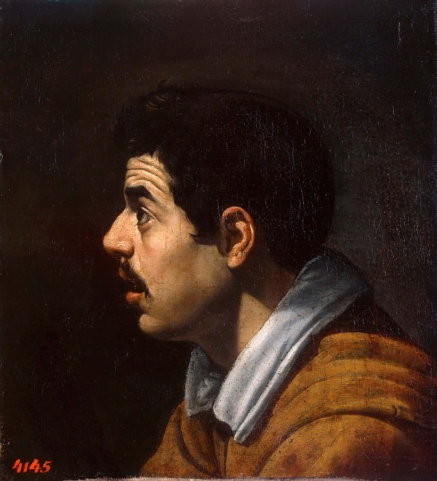 Male head in profile. Diego Rodriguez De Silva y Velazquez