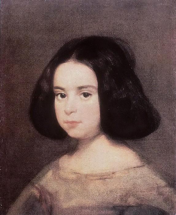 Portrait of a Young Girl. Diego Rodriguez De Silva y Velazquez