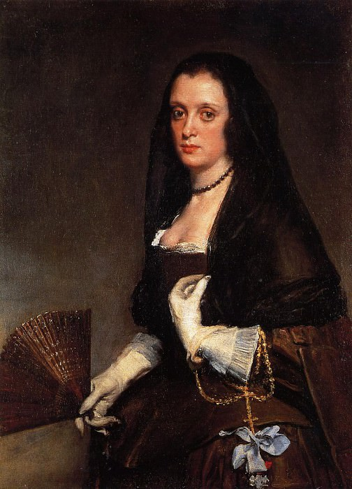 Lady with a Fan. Diego Rodriguez De Silva y Velazquez