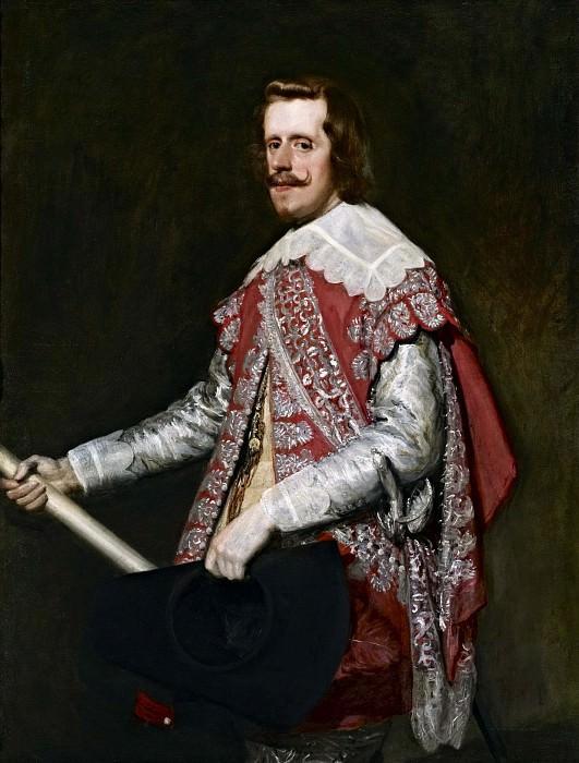 Portrait of Philip IV in an army uniform. Diego Rodriguez De Silva y Velazquez