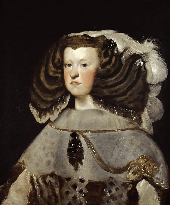 Portrait of Mariana of Austria, Queen of Spain. Diego Rodriguez De Silva y Velazquez