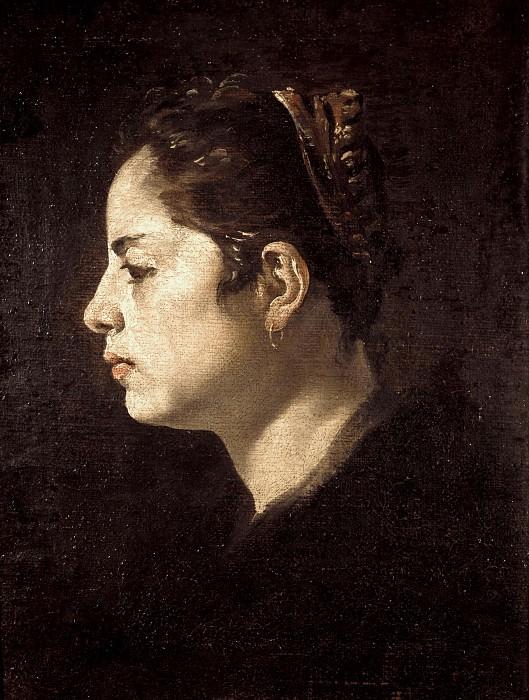 Head of a girl. Diego Rodriguez De Silva y Velazquez