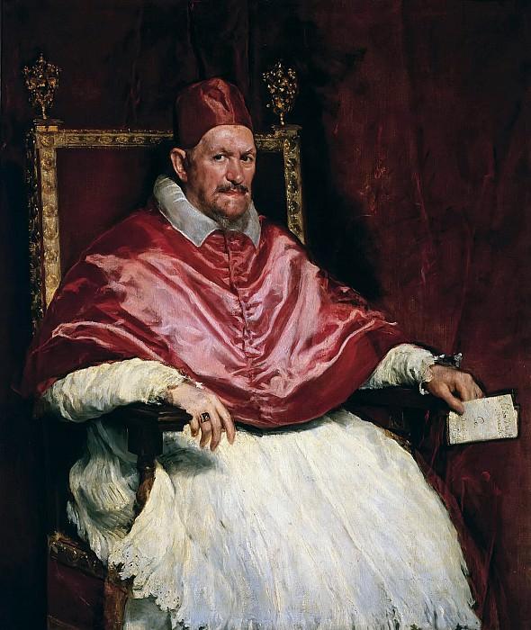 Portrait of Pope Innocent X. Diego Rodriguez De Silva y Velazquez