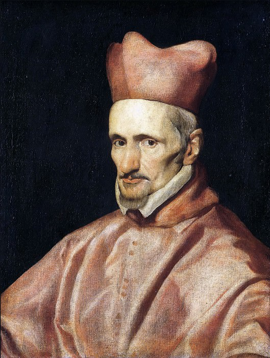 Portrait of the Cardinal Gaspar de Borja y Velasco. Diego Rodriguez De Silva y Velazquez (workshop)