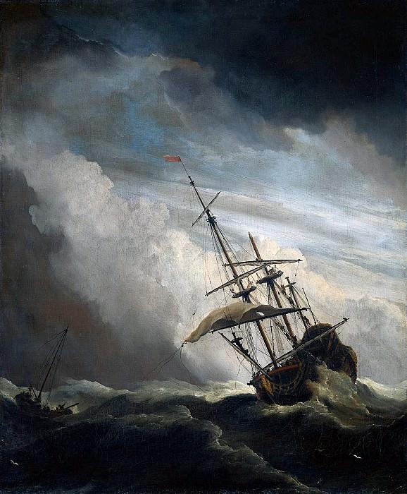 Velde II van de Willem The storm Sun. Willem van de Velde the Younger