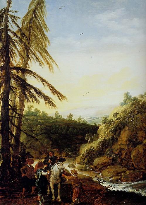 Velde van de Esaias Landscape robbing of a equestrian Sun. Van De Esaias Velde