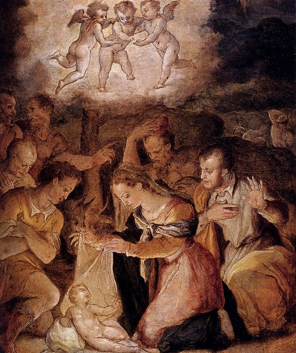 Vasari Giorgio The Nativity With The Adoration Of The Shepherds. Giorgio Vasari