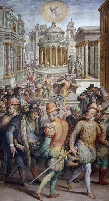 Massacre of Coligny and the Huguenots on Saint Bartholomew's Day, 24 August 1572. Giorgio Vasari