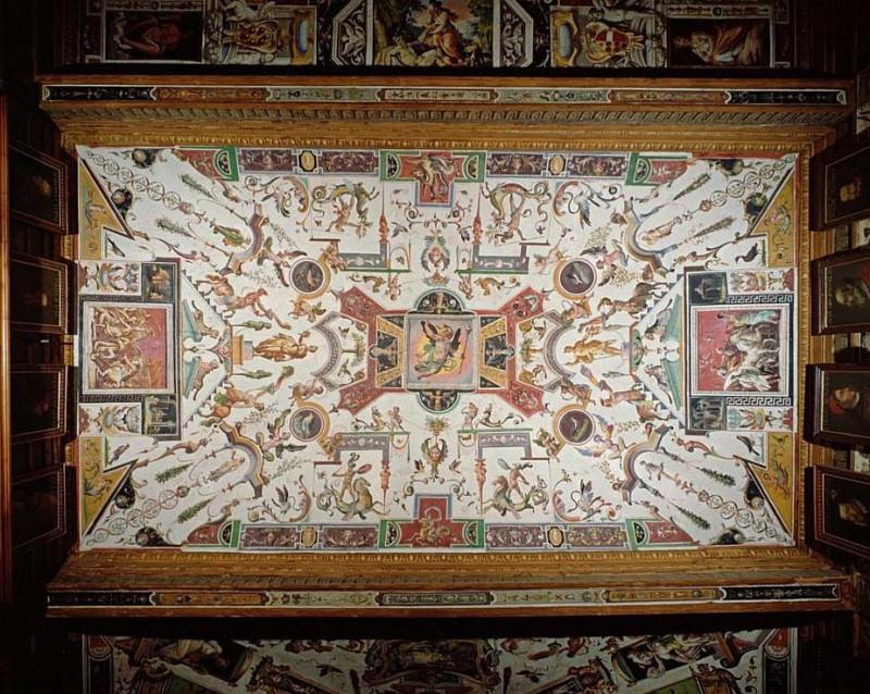 Ceiling from the Vasari Corridor. Giorgio Vasari