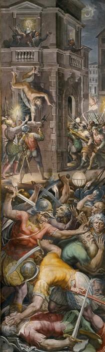 Избиение адмирала Колиньи и гугенотов в ночь святого Варфоломея 24 августа 1572. Джорджо Вазари