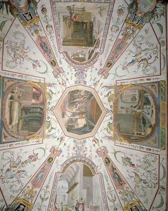 Ceiling from the Vasari Corridor. Giorgio Vasari
