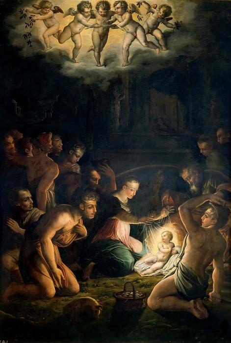 Adoration of the Shepherds. Giorgio Vasari