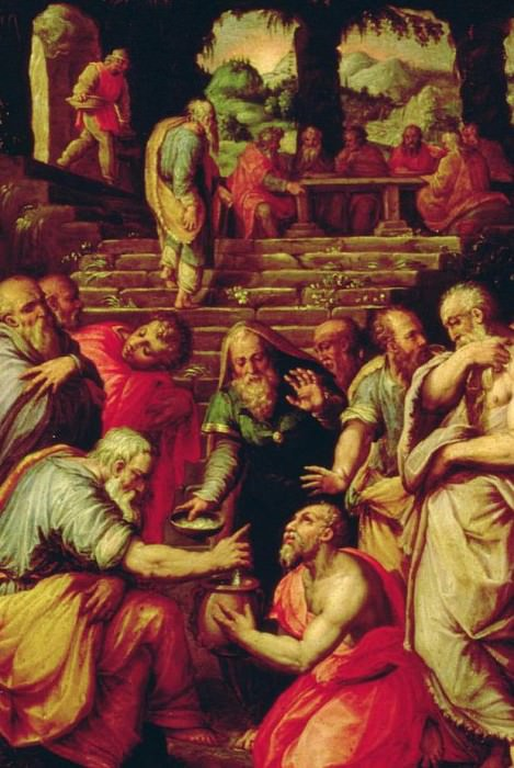 The Prophet Elisha cleansing Naaman. Giorgio Vasari