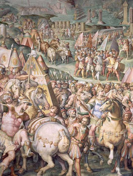 The Siege of Livorno by Maximilian I (1459-1519). Giorgio Vasari