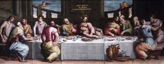 La ultima cena. Giorgio Vasari