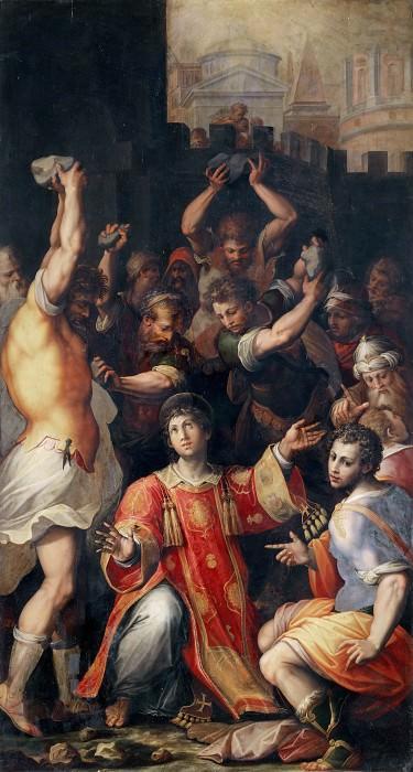 The Stoning of Saint Stephen. Giorgio Vasari