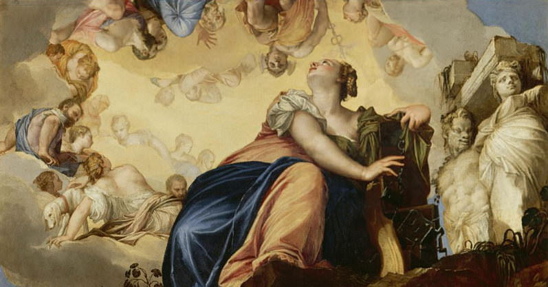 Женская фигура разрывает цепи. Веронезе (Паоло Кальяри)
