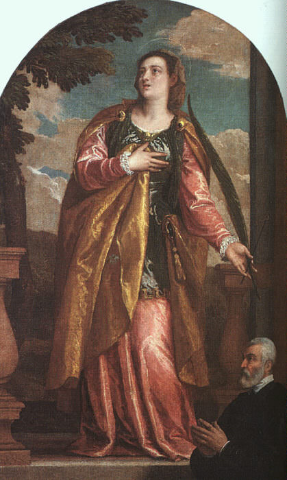 St. Lucy and a Donor. Veronese (Paolo Cagliari)