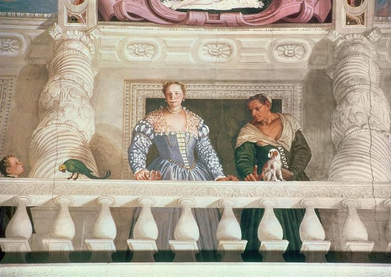 Villa Barbaro. Lady and Nurse on the Balcony. Veronese (Paolo Cagliari)