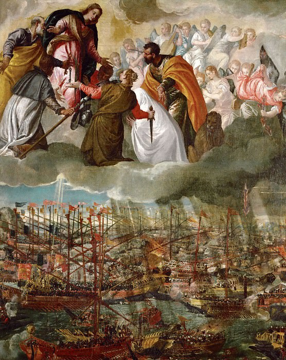 Allegory of the Battle of Lepanto. Veronese (Paolo Cagliari)
