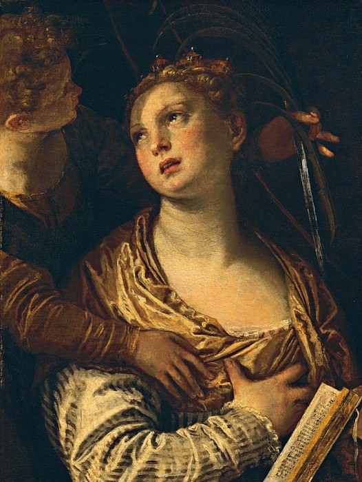 Saint Catherine with an angel (Santa Caterina con un angelo). Veronese (Paolo Cagliari)