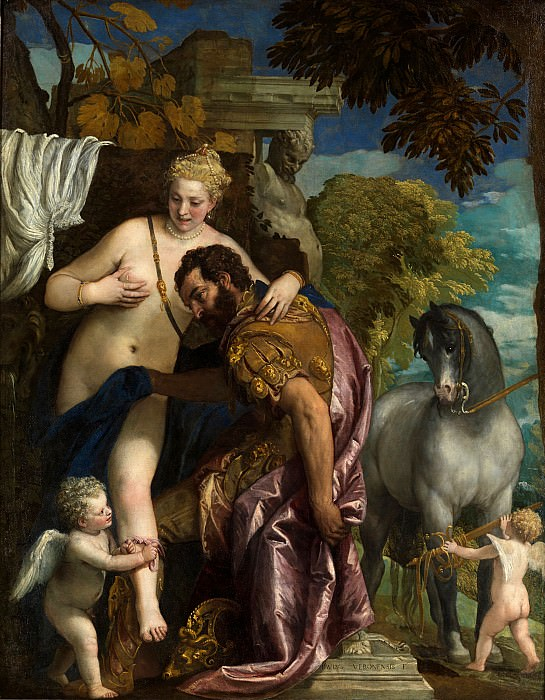 Mars and Venus United by Love. Veronese (Paolo Cagliari)