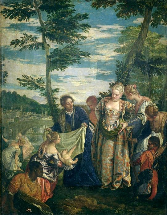 Moses Rescued from the Nile. Veronese (Paolo Cagliari)