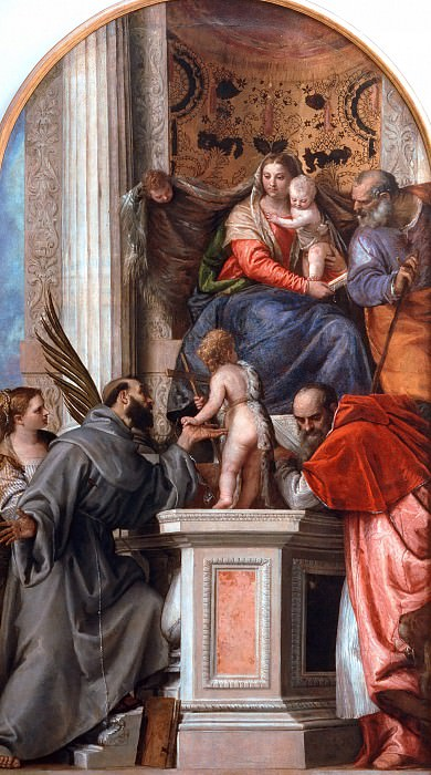 Madonna Enthroned with Saints. Veronese (Paolo Cagliari)