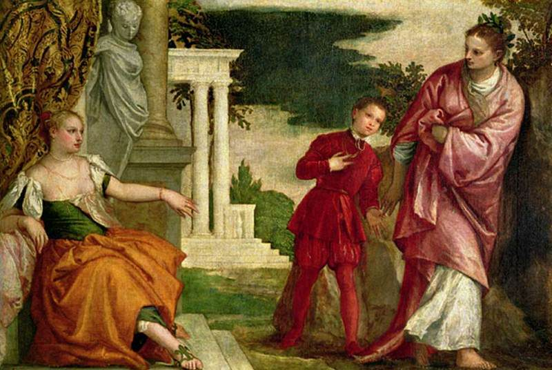 A Young Man Between Virtue and Vice. Veronese (Paolo Cagliari)