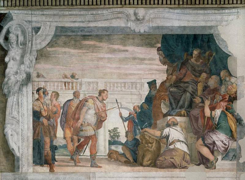 Святой Себастьян перед Диоклетианом. Веронезе (Паоло Кальяри)