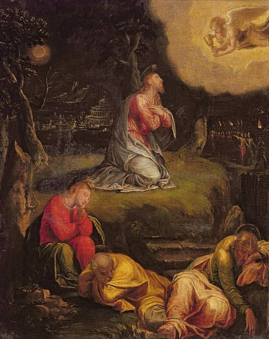 The Agony in the Garden. Veronese (Paolo Cagliari)