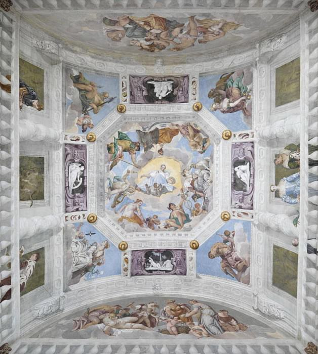 Universal Harmont, or Divine Love, Vault of the Hall of the Olympus. Veronese (Paolo Cagliari)