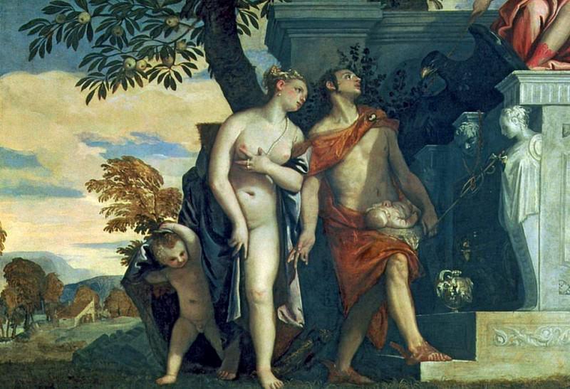 Venus and Mercury presenting her son Anteros to Jupiter. Veronese (Paolo Cagliari)