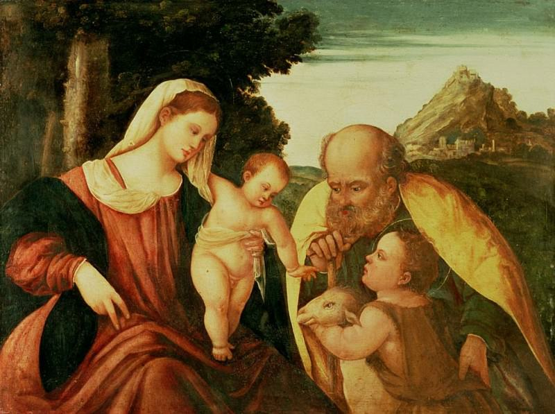 Holy Family with St. John. Veronese (Paolo Cagliari)