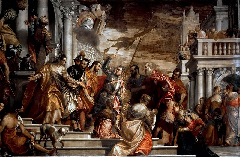 St. Sebastian Inciting Marcellus and Marcellinus who are Being Led to Martyrdom. Veronese (Paolo Cagliari)