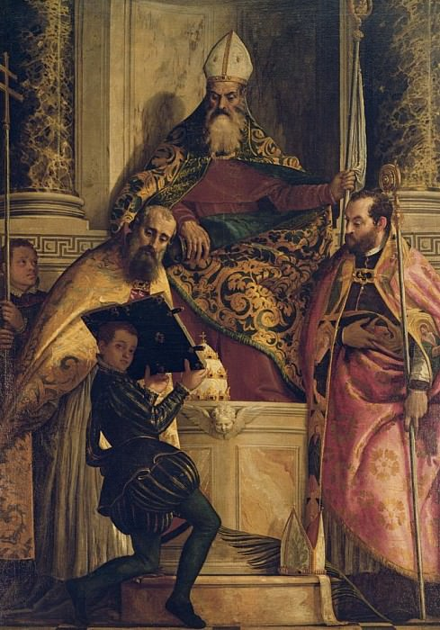 Святой Антоний Аббат со Святым Корнелием, Святым Киприаном и пажем. Веронезе (Паоло Кальяри)