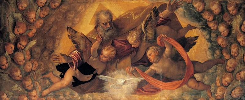 God the Father Surrounded by Angels. Veronese (Paolo Cagliari)