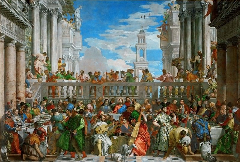 The Wedding Feast at Cana. Veronese (Paolo Cagliari)