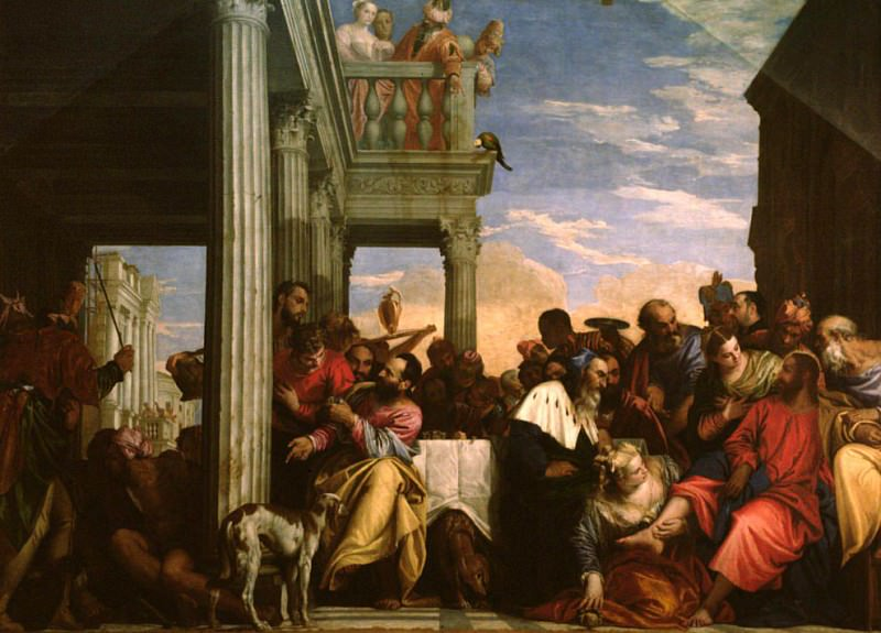 Christ at Dinner in the House of Simon the Pharisee. Veronese (Paolo Cagliari)