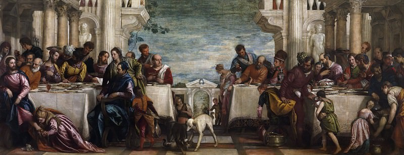 The Feast in the House of Simon. Veronese (Paolo Cagliari)