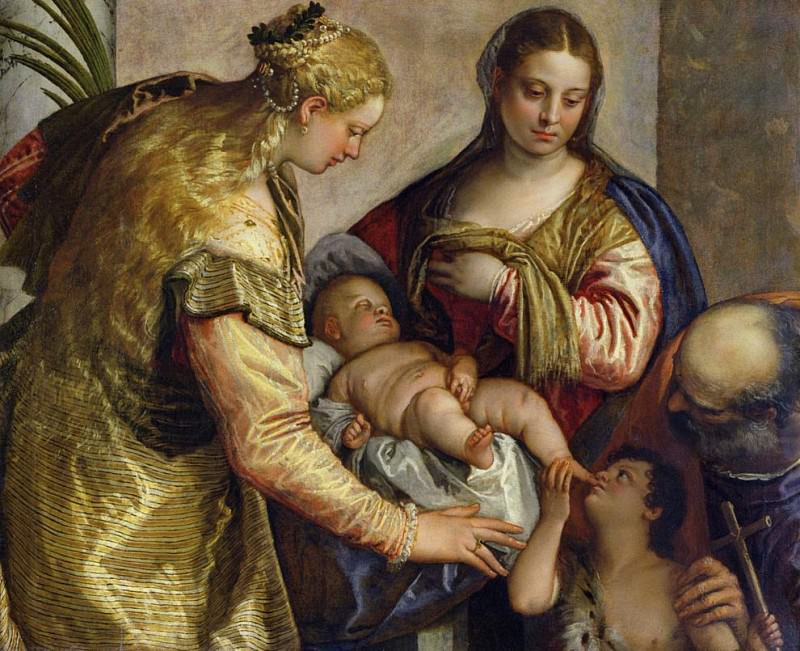 The Holy Family with St. Barbara. Veronese (Paolo Cagliari)