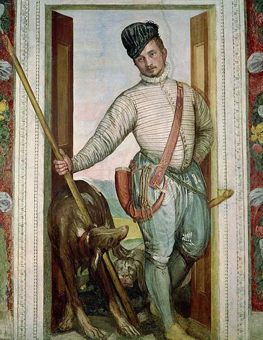 Self Portrait in Hunting Costume. Veronese (Paolo Cagliari)