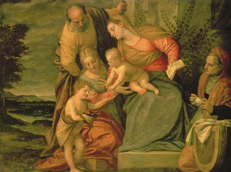 Святое Семейство со святыми Елизаветой и Иоанном Крестителем. Веронезе (Паоло Кальяри)