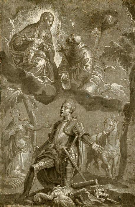 Богоматерь с младенцем со святым Франциском и святым Георгием. Веронезе (Паоло Кальяри)