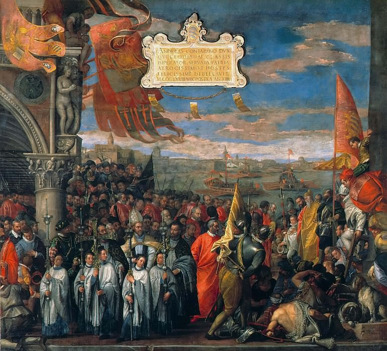 Doge Andrea Contarinis Return to Venice after the Victory over the Genovese at the Battle. Veronese (Paolo Cagliari)
